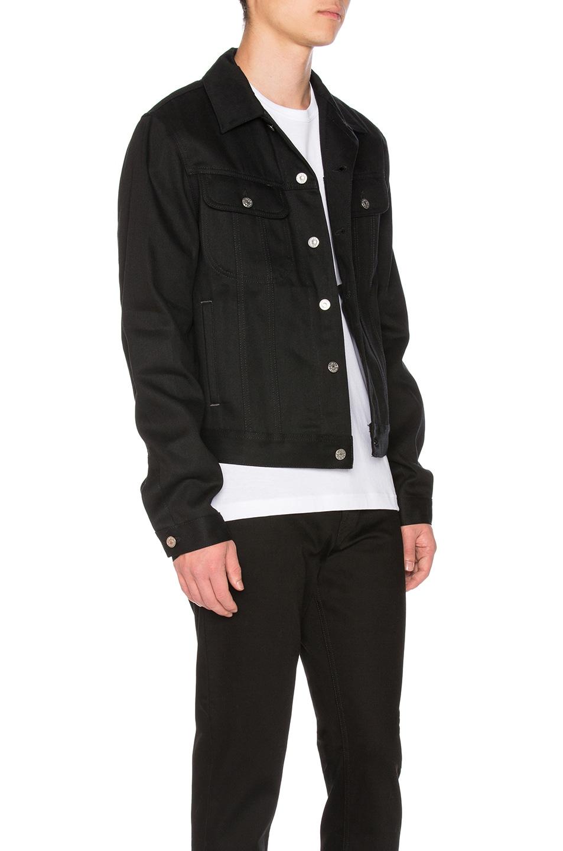 Acne Black Denim Jacket acne studios tent denim jacket in black | fwrd