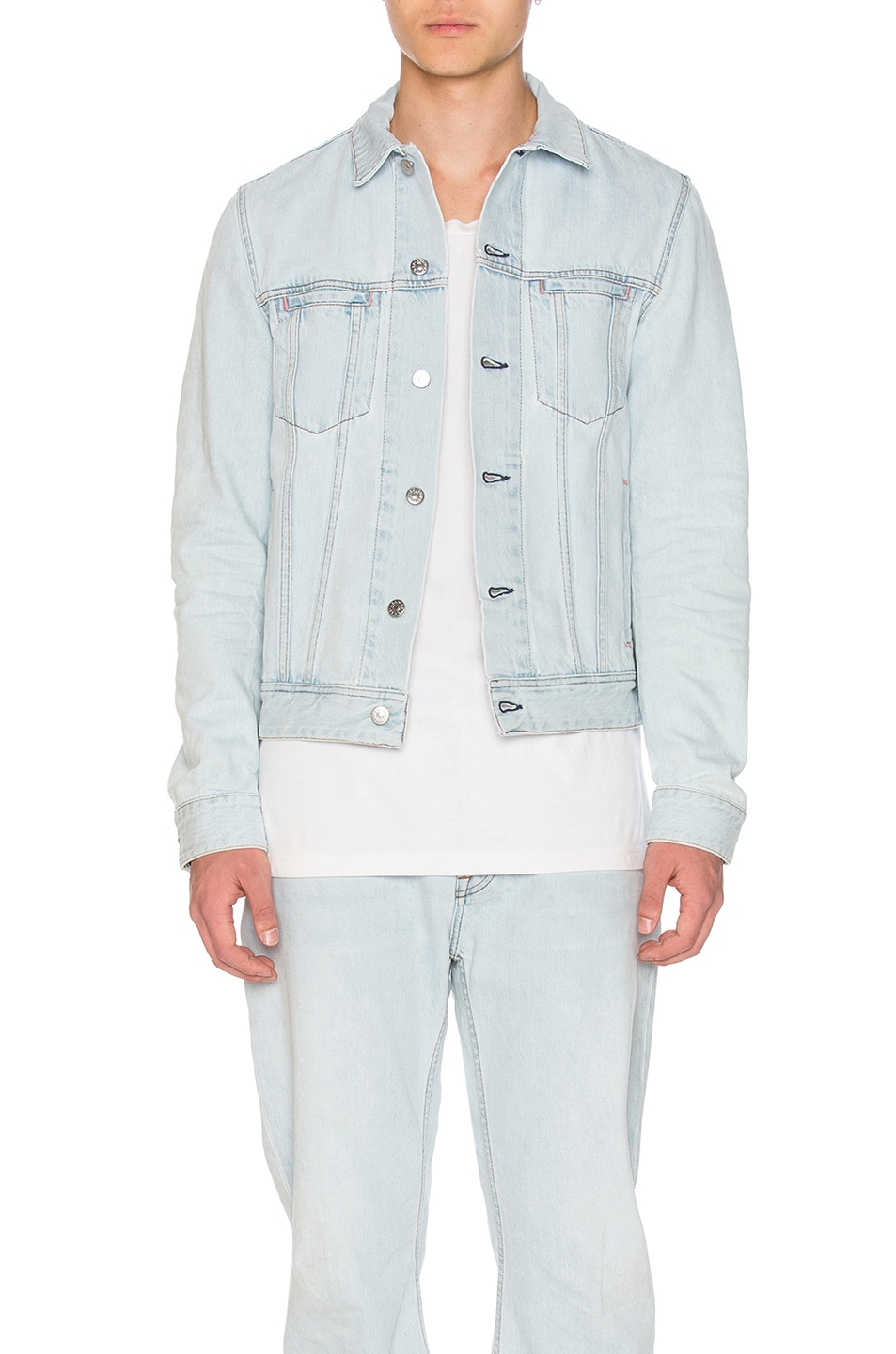 c52f5ef514 Image 1 of Acne Studios Pass Denim Jacket in Light Blue
