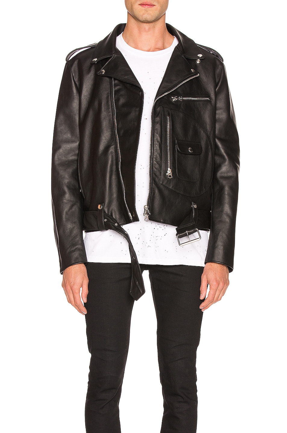 Image 1 of Acne Studios Leather Jacket in Black