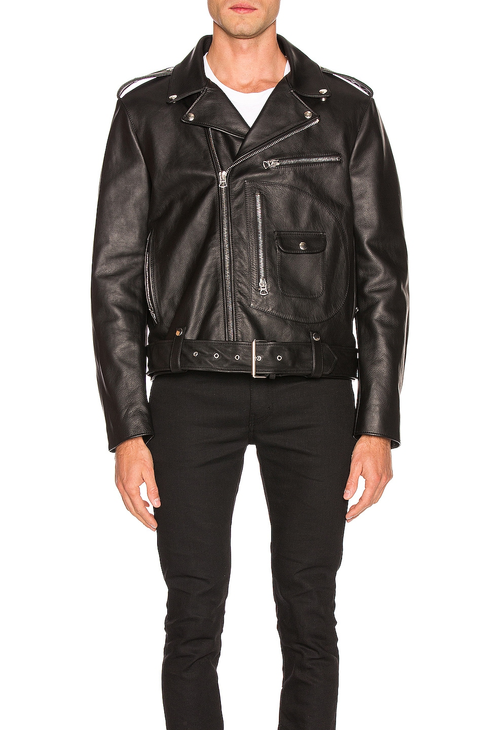 Image 2 of Acne Studios Leather Jacket in Black