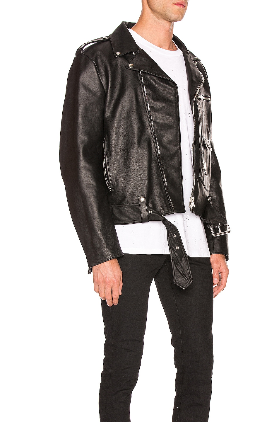 Image 3 of Acne Studios Leather Jacket in Black