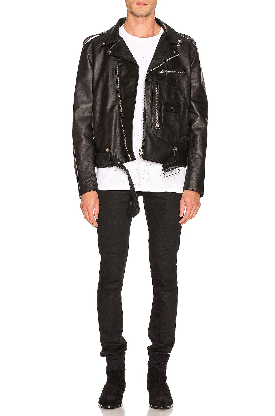 Image 5 of Acne Studios Leather Jacket in Black