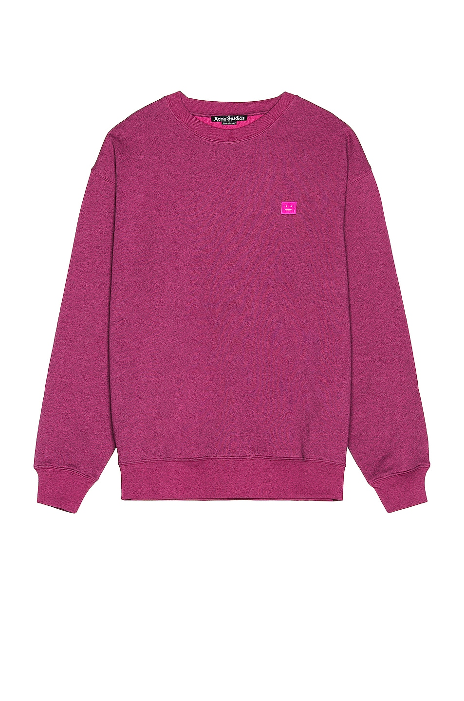 Image 1 of Acne Studios Forba Melange Face Sweatshirt in Pink