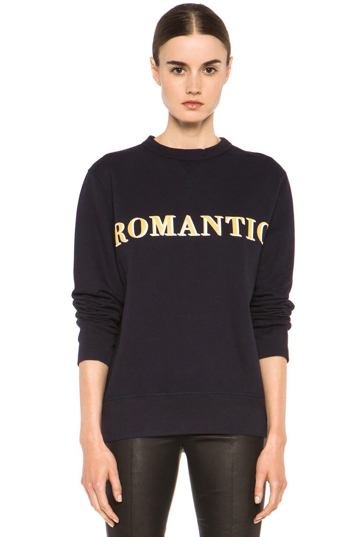 Image 1 of Acne Studios Nick Print Sweatshirt in Navy