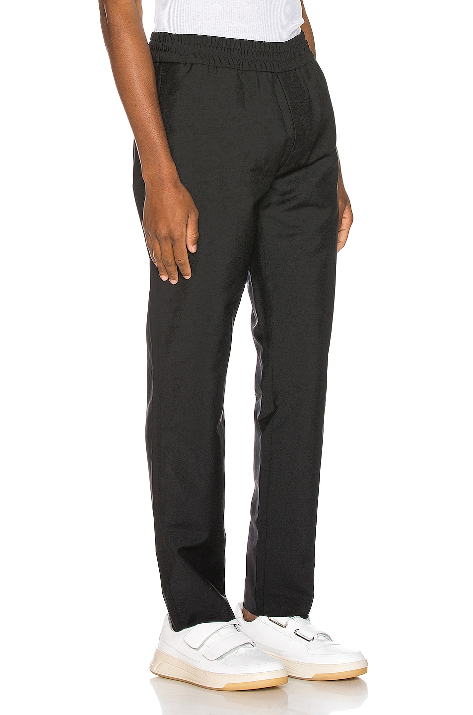 Image 2 of Acne Studios Ryder Cropped Trousers in Black