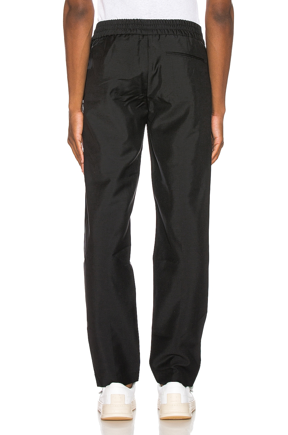 Image 3 of Acne Studios Ryder Cropped Trousers in Black