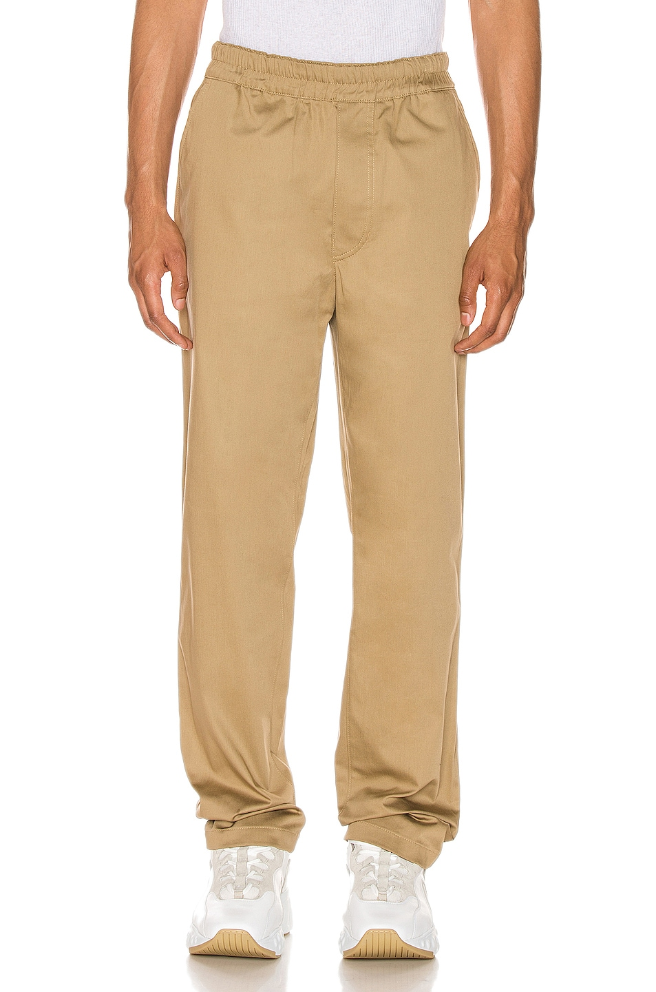 Image 1 of Acne Studios Paco Satin Trousers in Sand Beige