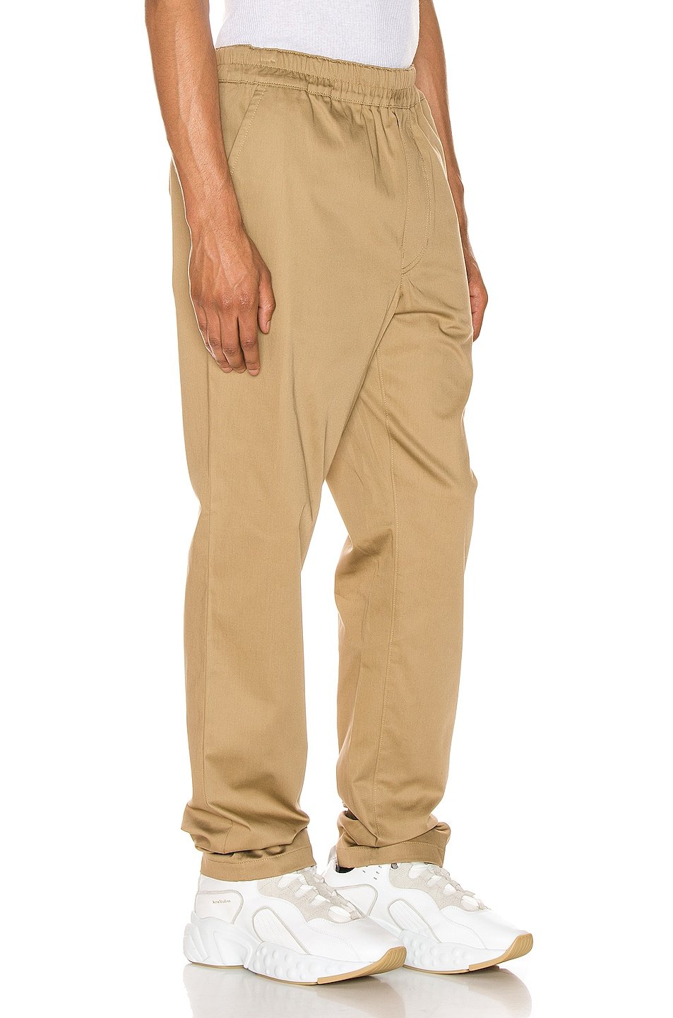 Image 2 of Acne Studios Paco Satin Trousers in Sand Beige
