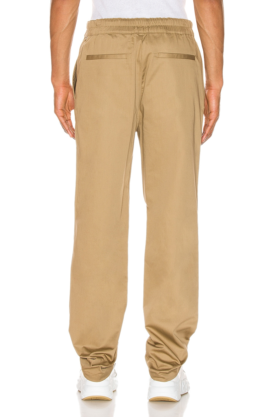 Image 3 of Acne Studios Paco Satin Trousers in Sand Beige