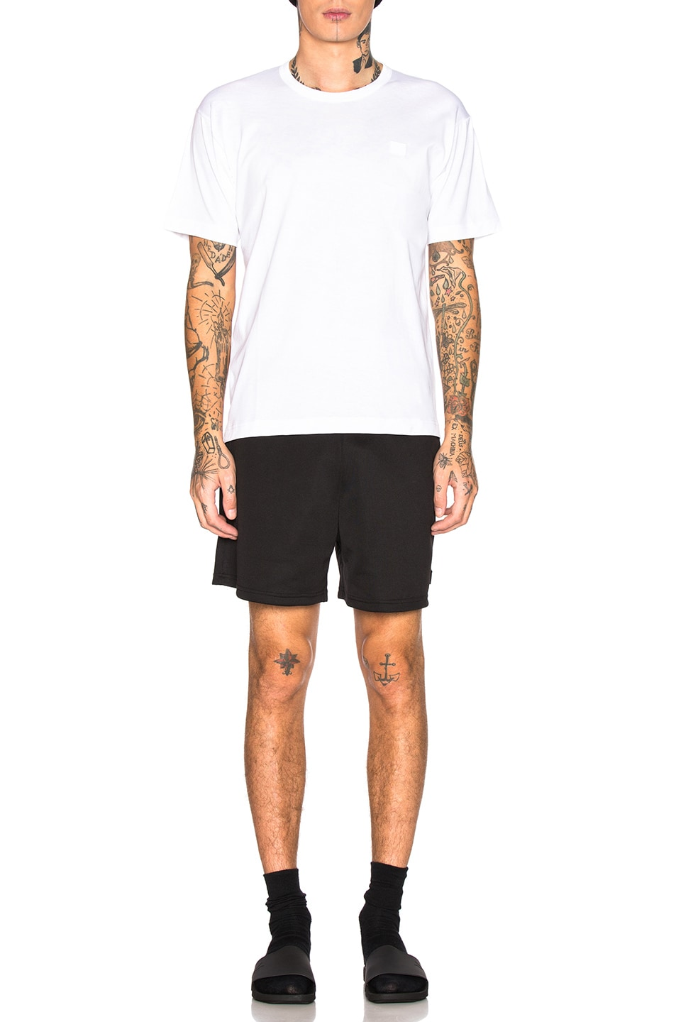 Image 4 of Acne Studios Nash Face Tee in Optic White