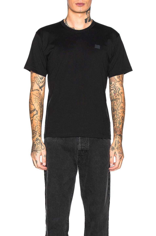 Image 4 of Acne Studios Nash Face Tee in Black