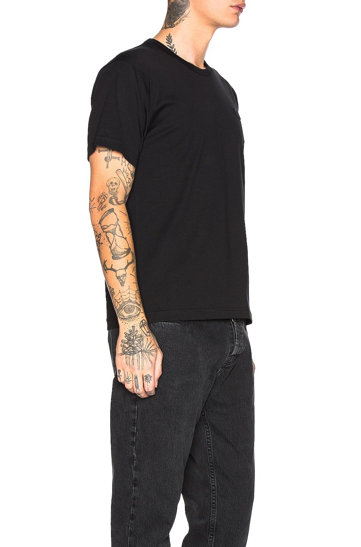 Image 5 of Acne Studios Nash Face Tee in Black