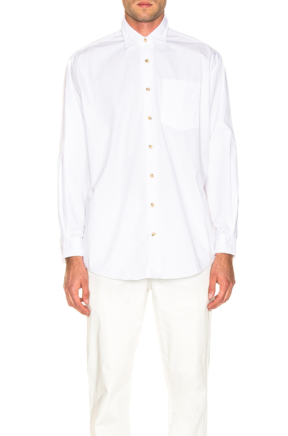 Image 1 of Acne Studios Atlent New Soft Pop Shirt in Optic White