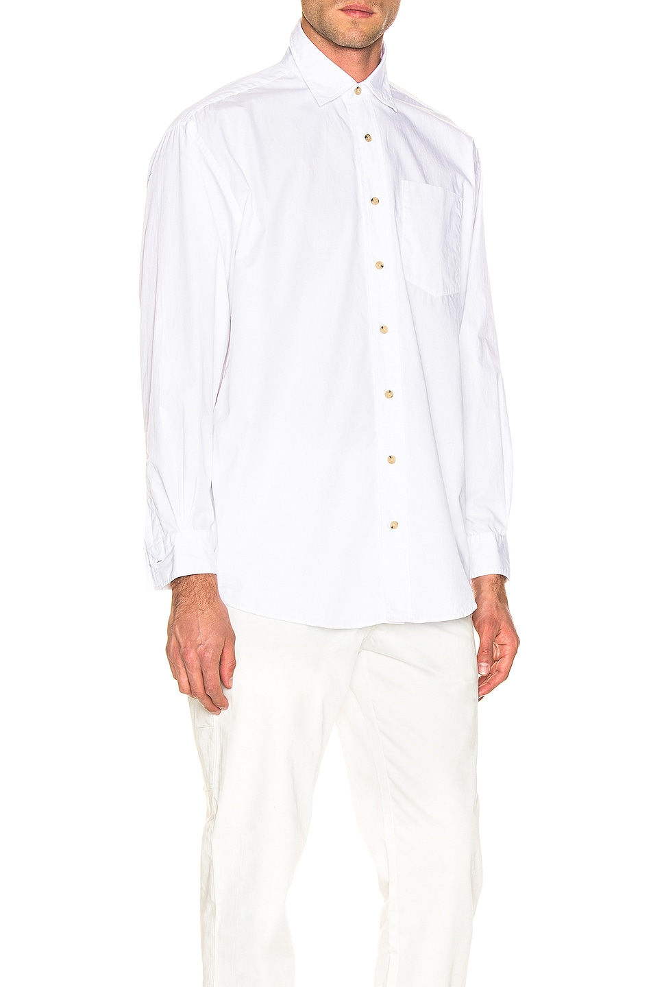 Image 2 of Acne Studios Atlent New Soft Pop Shirt in Optic White