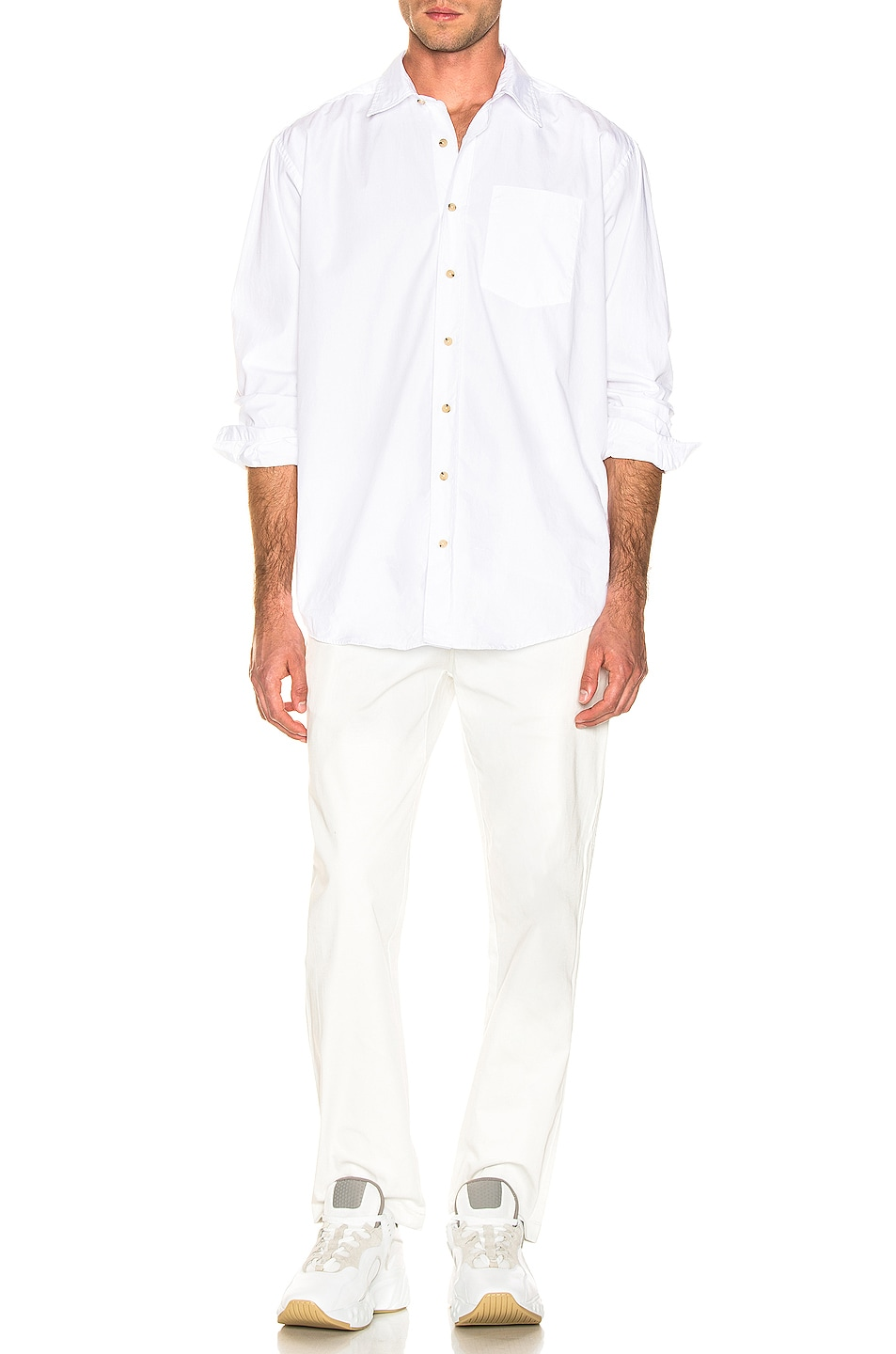 Image 4 of Acne Studios Atlent New Soft Pop Shirt in Optic White