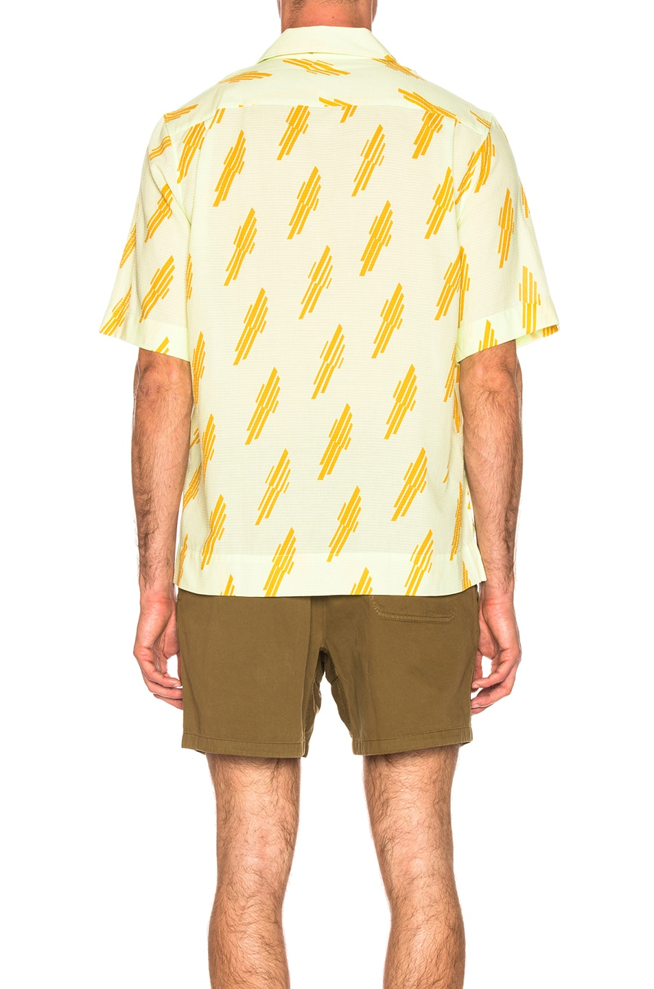 Image 4 of Acne Studios Simon Diag Shirt in Mint Green & Sunflower Yellow