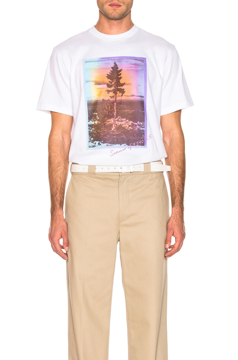 Image 1 of Acne Studios Jaceye Sweden Graphic Tee in White