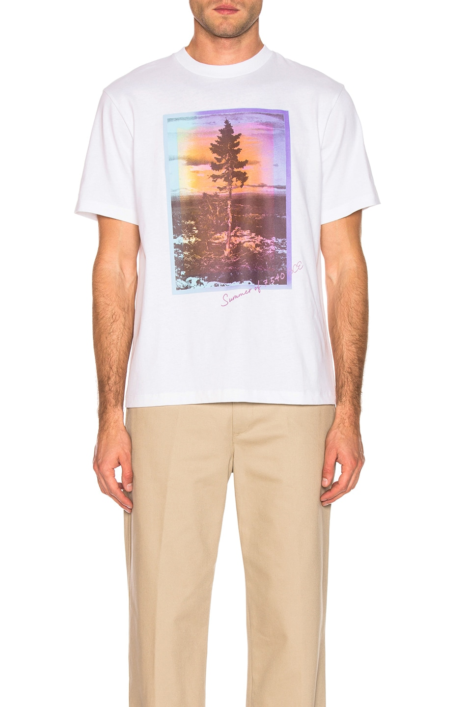 Image 2 of Acne Studios Jaceye Sweden Graphic Tee in White