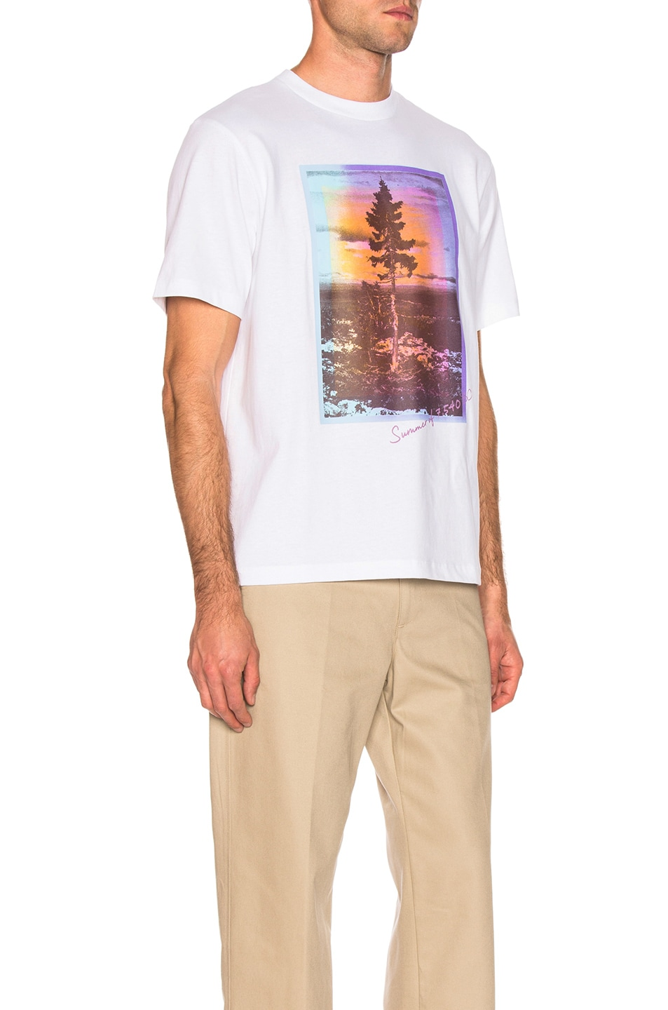 Image 3 of Acne Studios Jaceye Sweden Graphic Tee in White