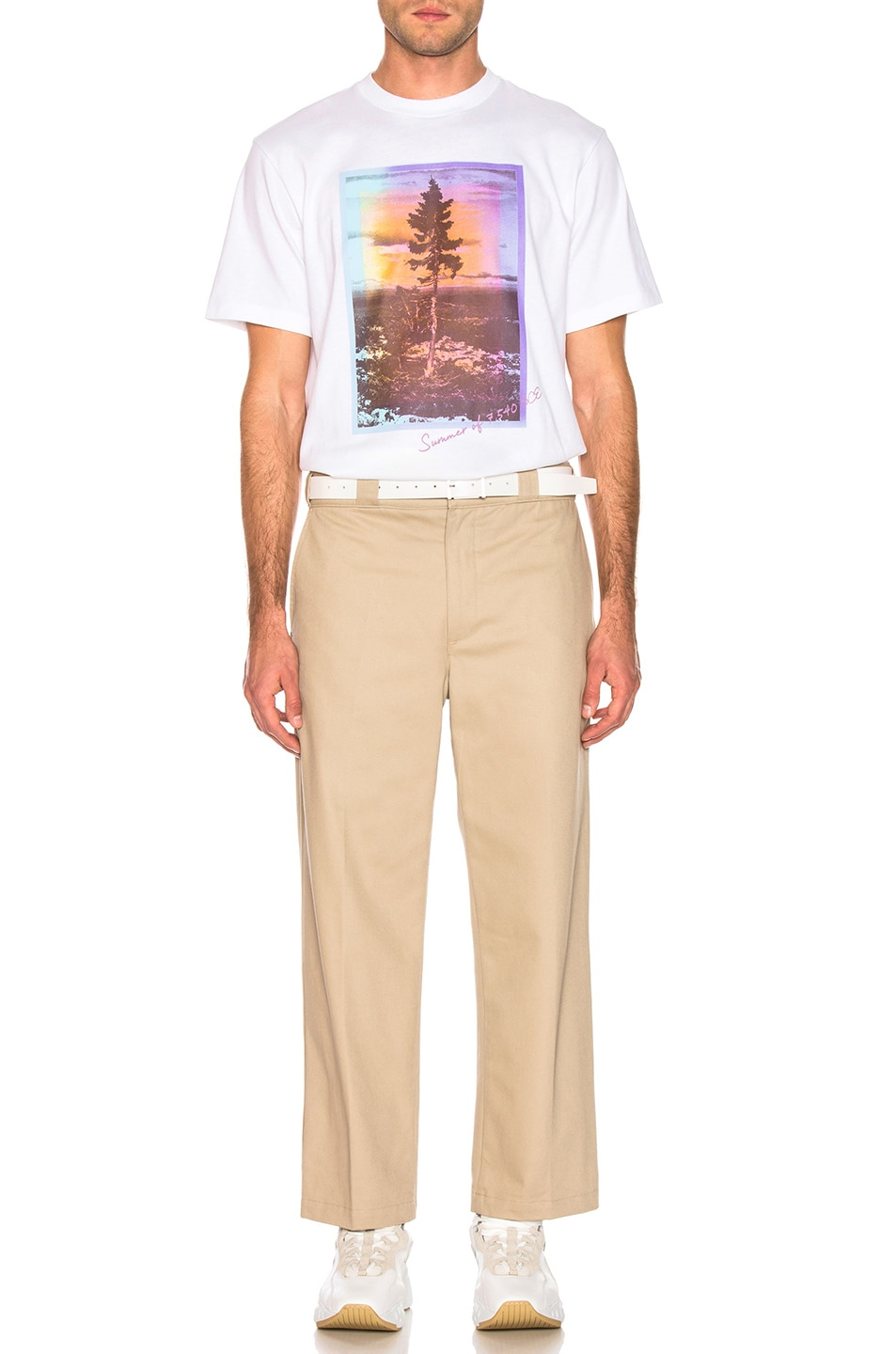 Image 5 of Acne Studios Jaceye Sweden Graphic Tee in White