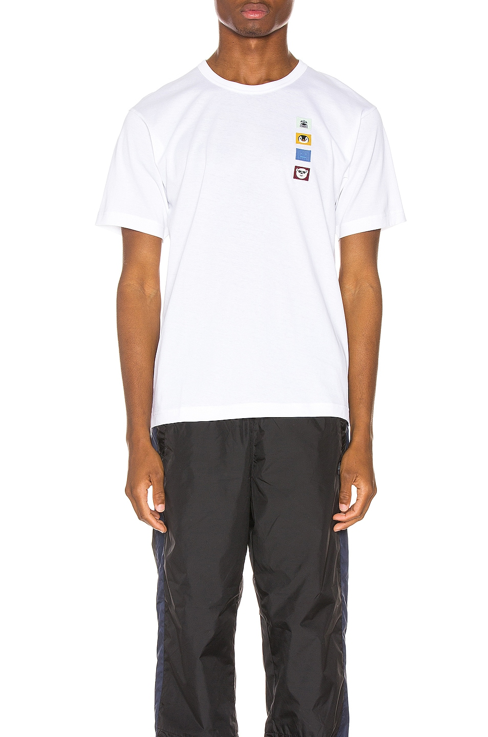 Image 1 of Acne Studios Nash Animal Patch Tee in Optic White