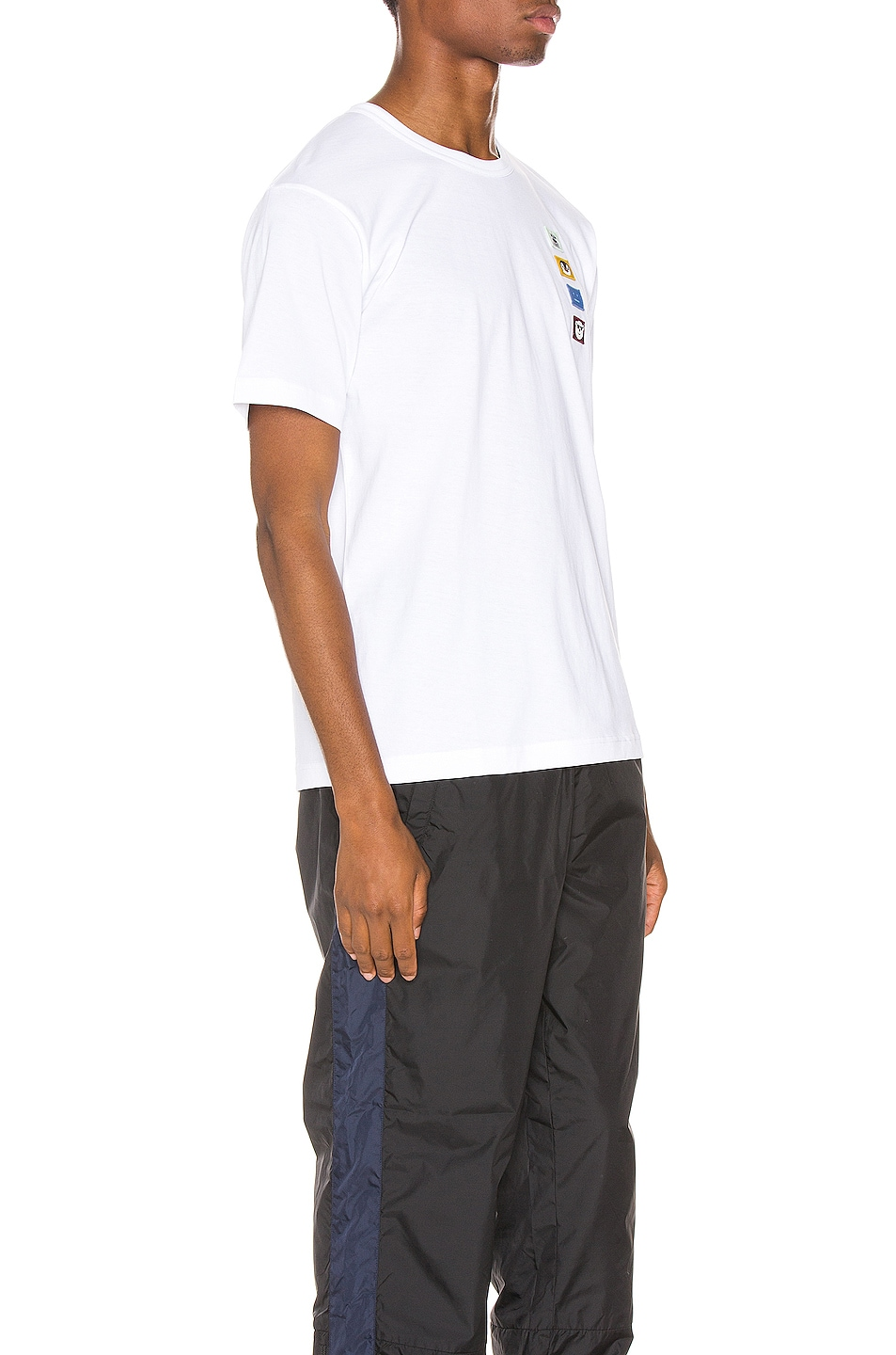 Image 2 of Acne Studios Nash Animal Patch Tee in Optic White