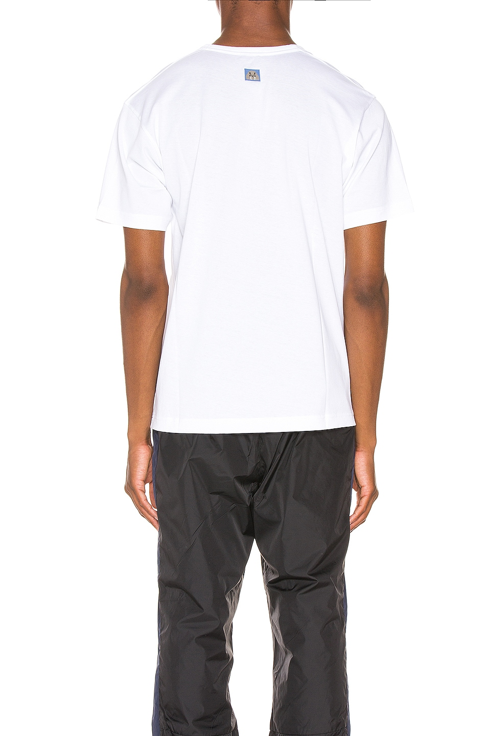 Image 3 of Acne Studios Nash Animal Patch Tee in Optic White