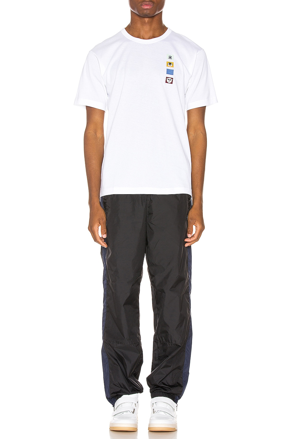 Image 4 of Acne Studios Nash Animal Patch Tee in Optic White
