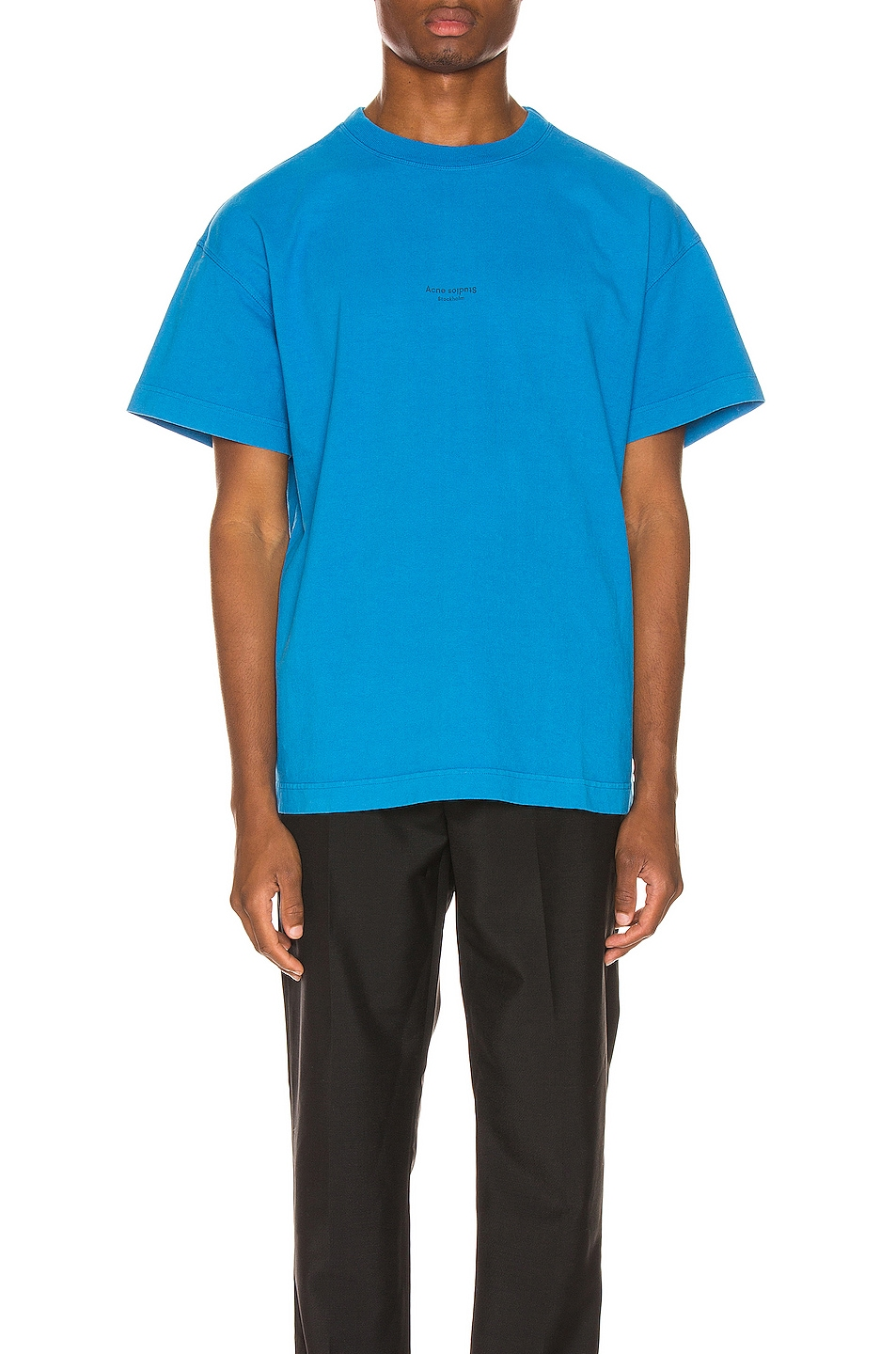 Image 1 of Acne Studios Jaxon Tee in Electric Blue