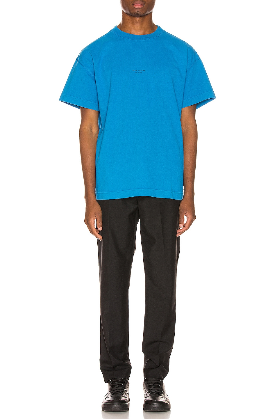 Image 4 of Acne Studios Jaxon Tee in Electric Blue