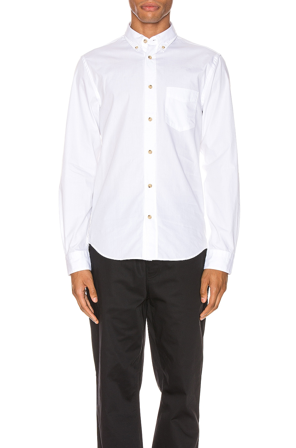 Image 1 of Acne Studios Isherwood Soft Pop Shirt in Optic White