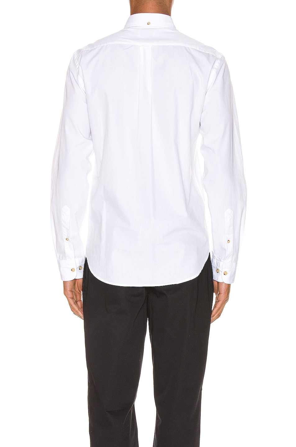 Image 3 of Acne Studios Isherwood Soft Pop Shirt in Optic White