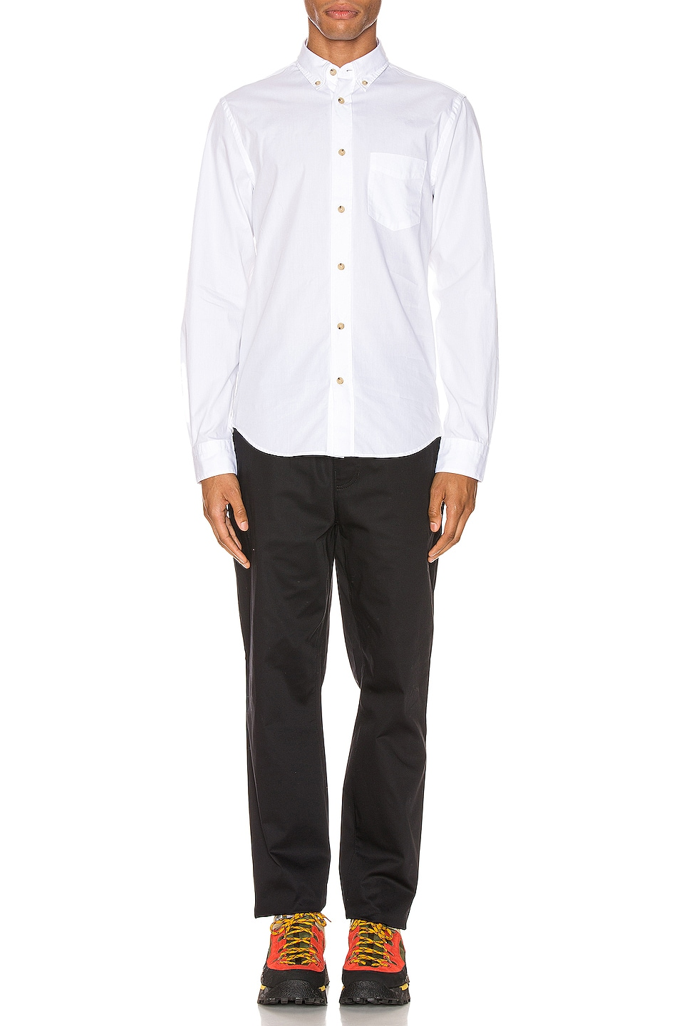 Image 4 of Acne Studios Isherwood Soft Pop Shirt in Optic White