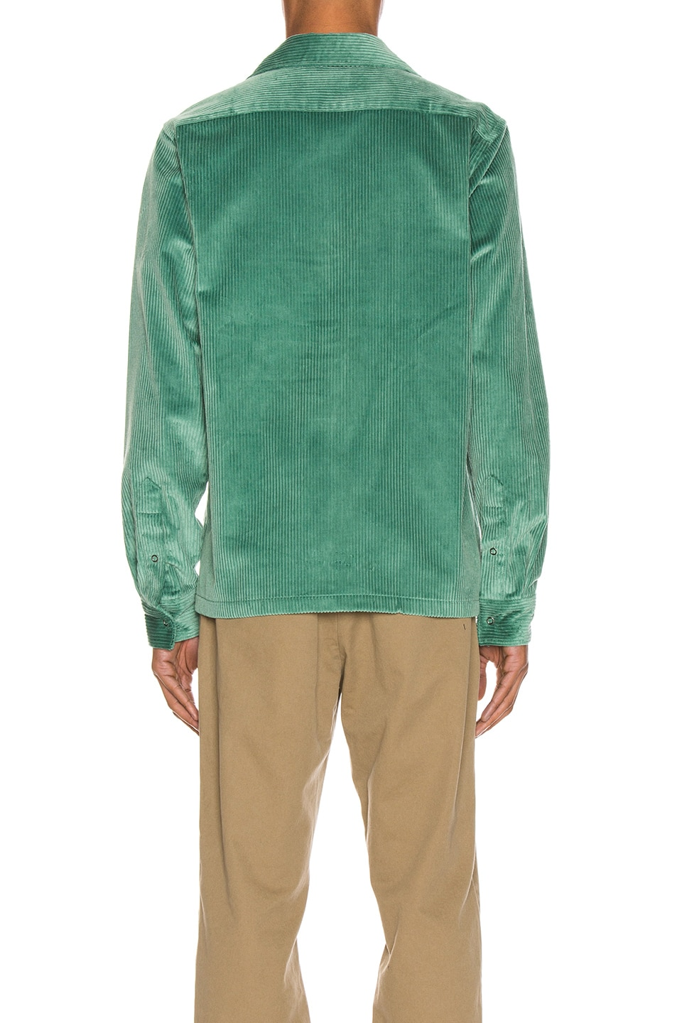 Image 3 of Acne Studios Denver New Cord Shirt in Dusty Green