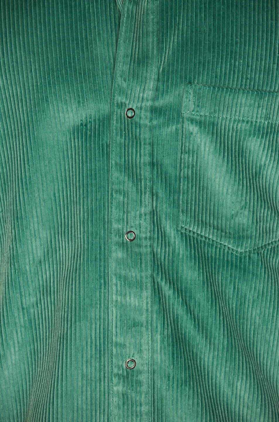 Image 5 of Acne Studios Denver New Cord Shirt in Dusty Green