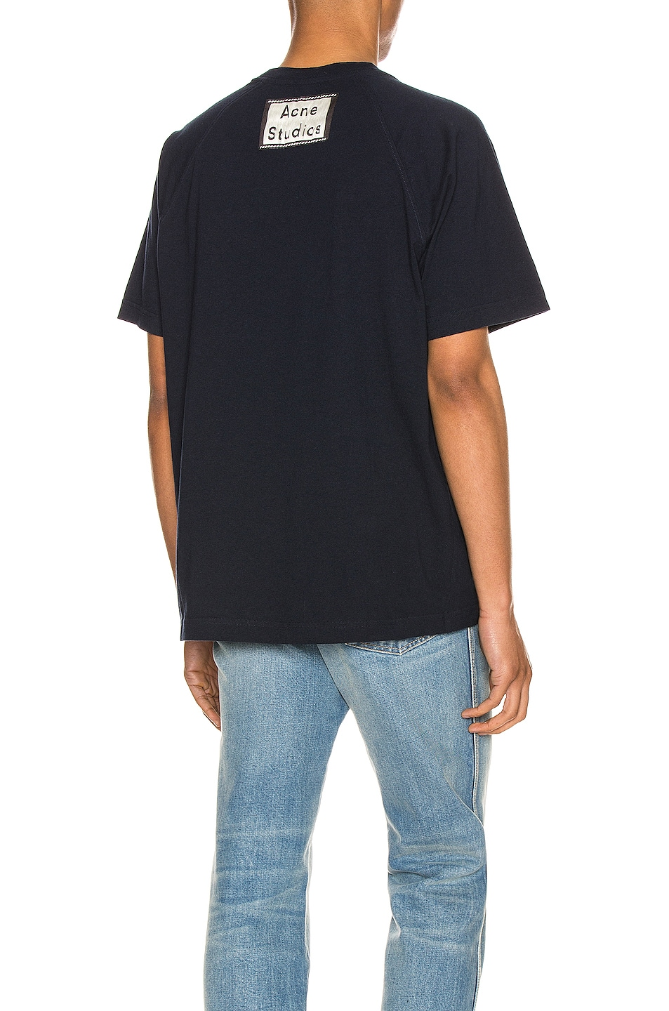 Image 1 of Acne Studios Graphic Tee in Navy Blue
