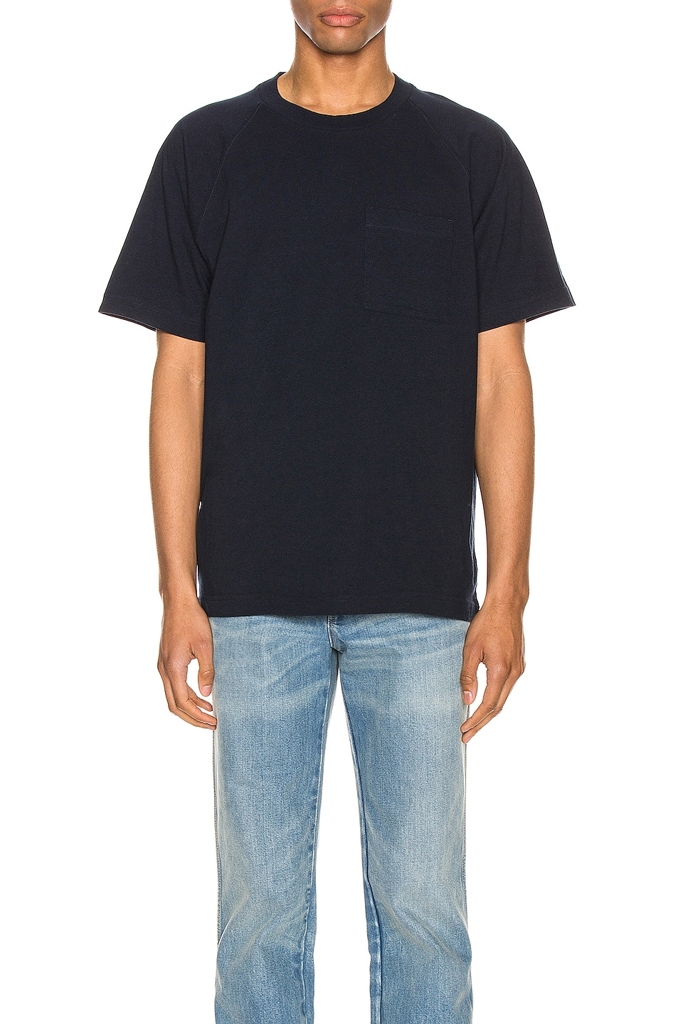 Image 2 of Acne Studios Graphic Tee in Navy Blue