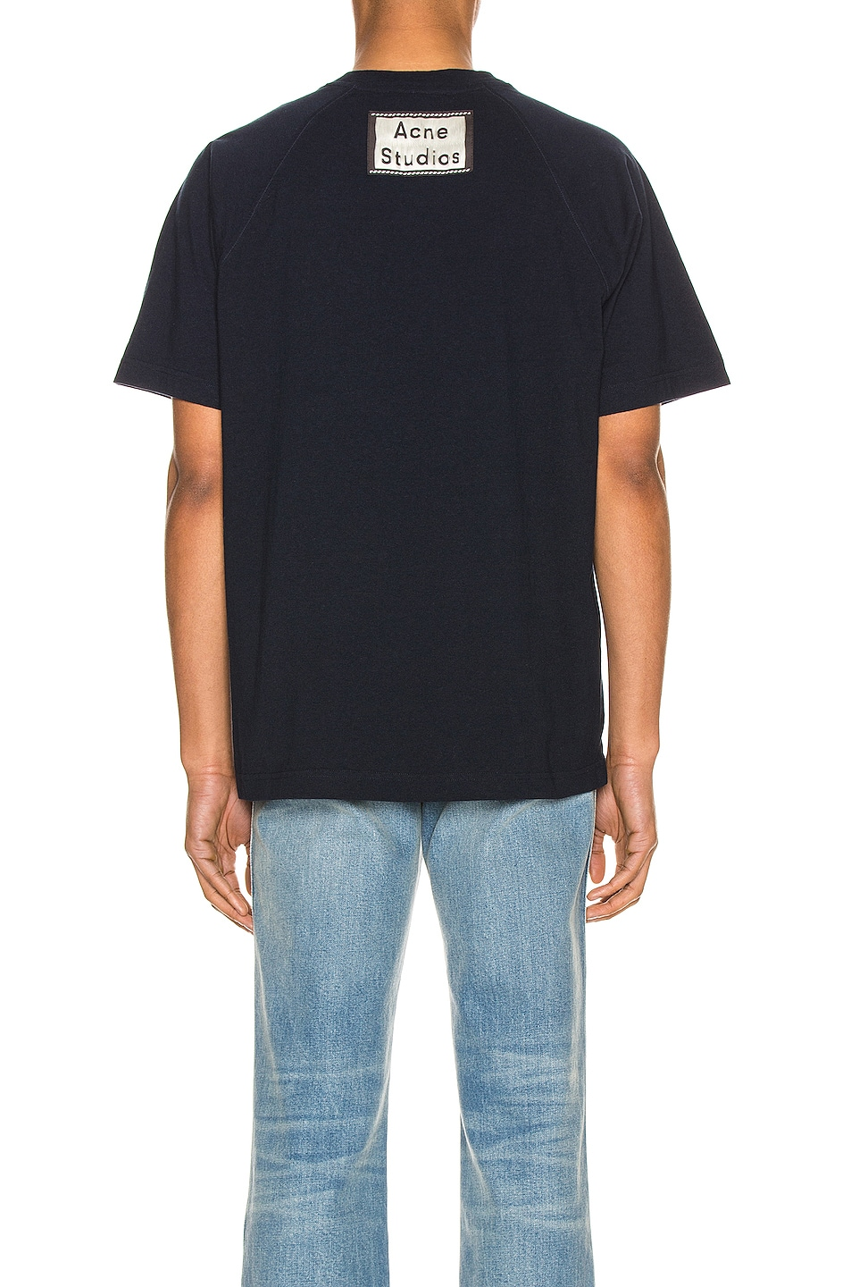 Image 4 of Acne Studios Graphic Tee in Navy Blue