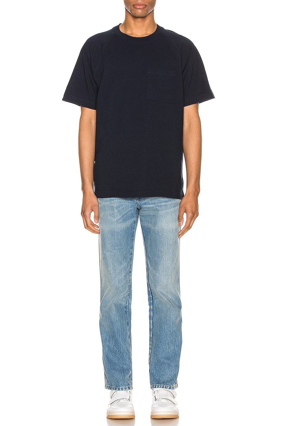 Image 5 of Acne Studios Graphic Tee in Navy Blue