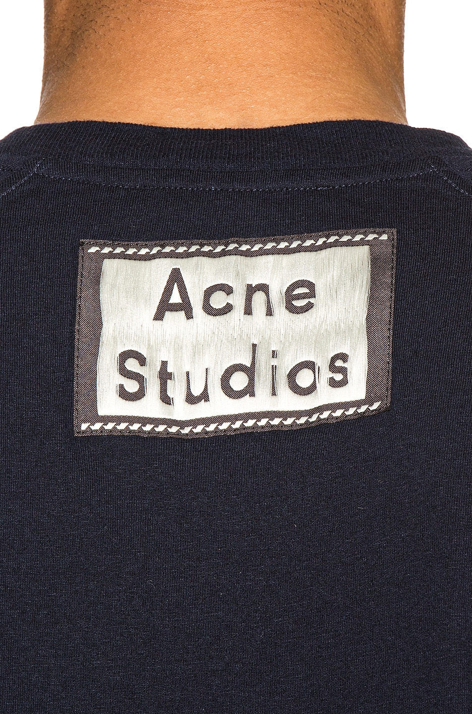 Image 6 of Acne Studios Graphic Tee in Navy Blue
