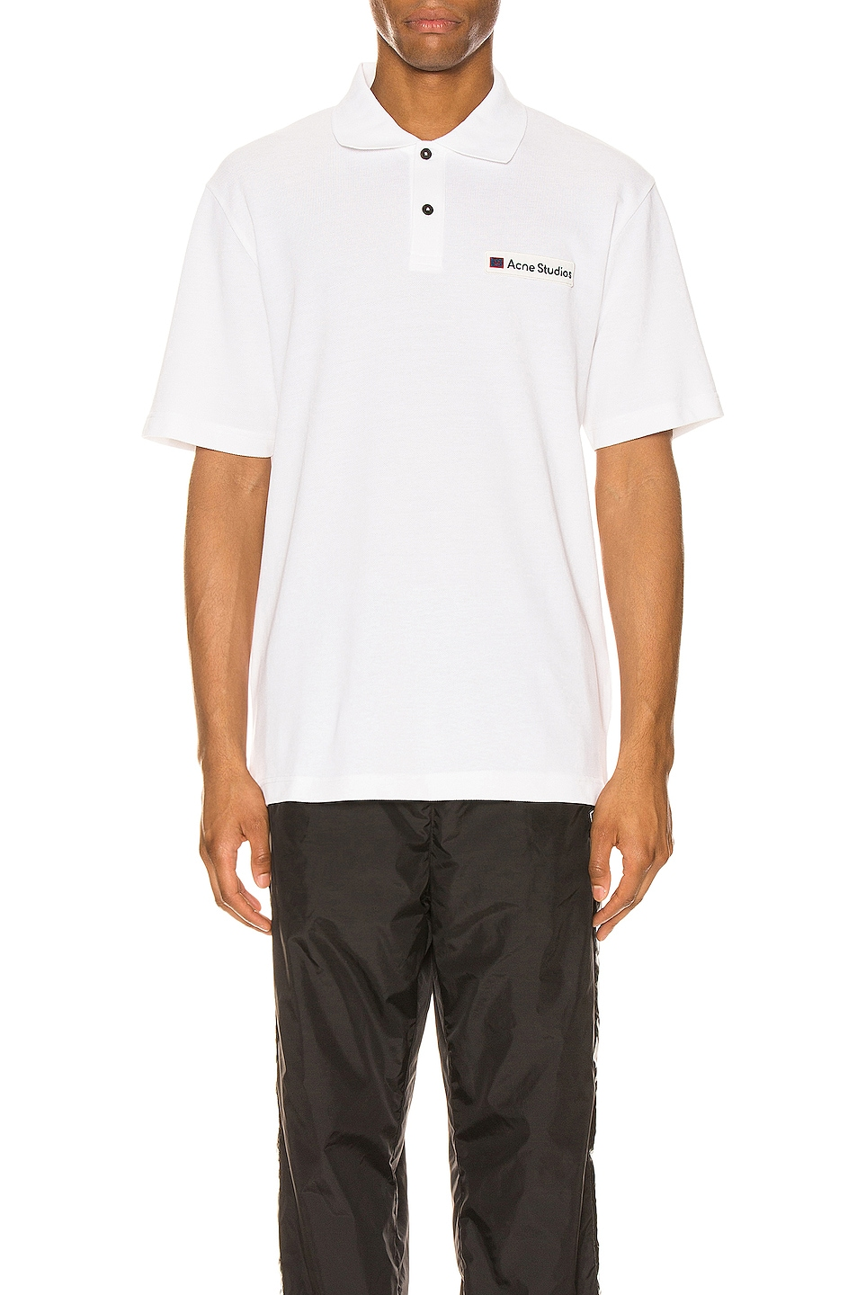 Image 1 of Acne Studios Polo in Optic White
