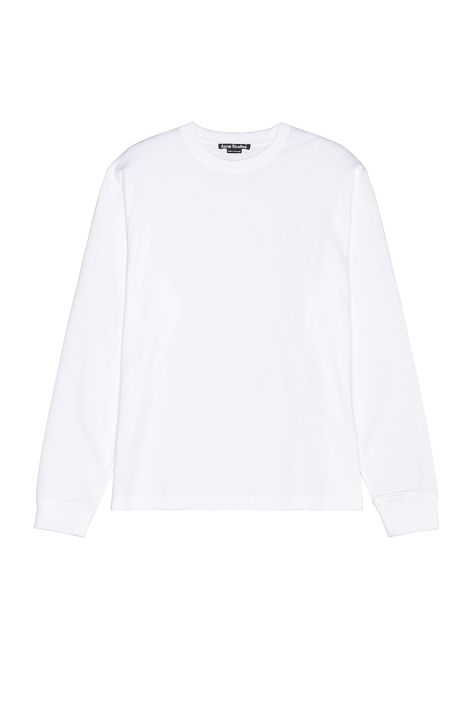 Image 1 of Acne Studios Eisen Face Tee in White in Optic White