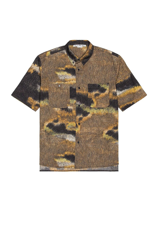 Image 1 of Acne Studios Sanper Shirt in Brown & Black