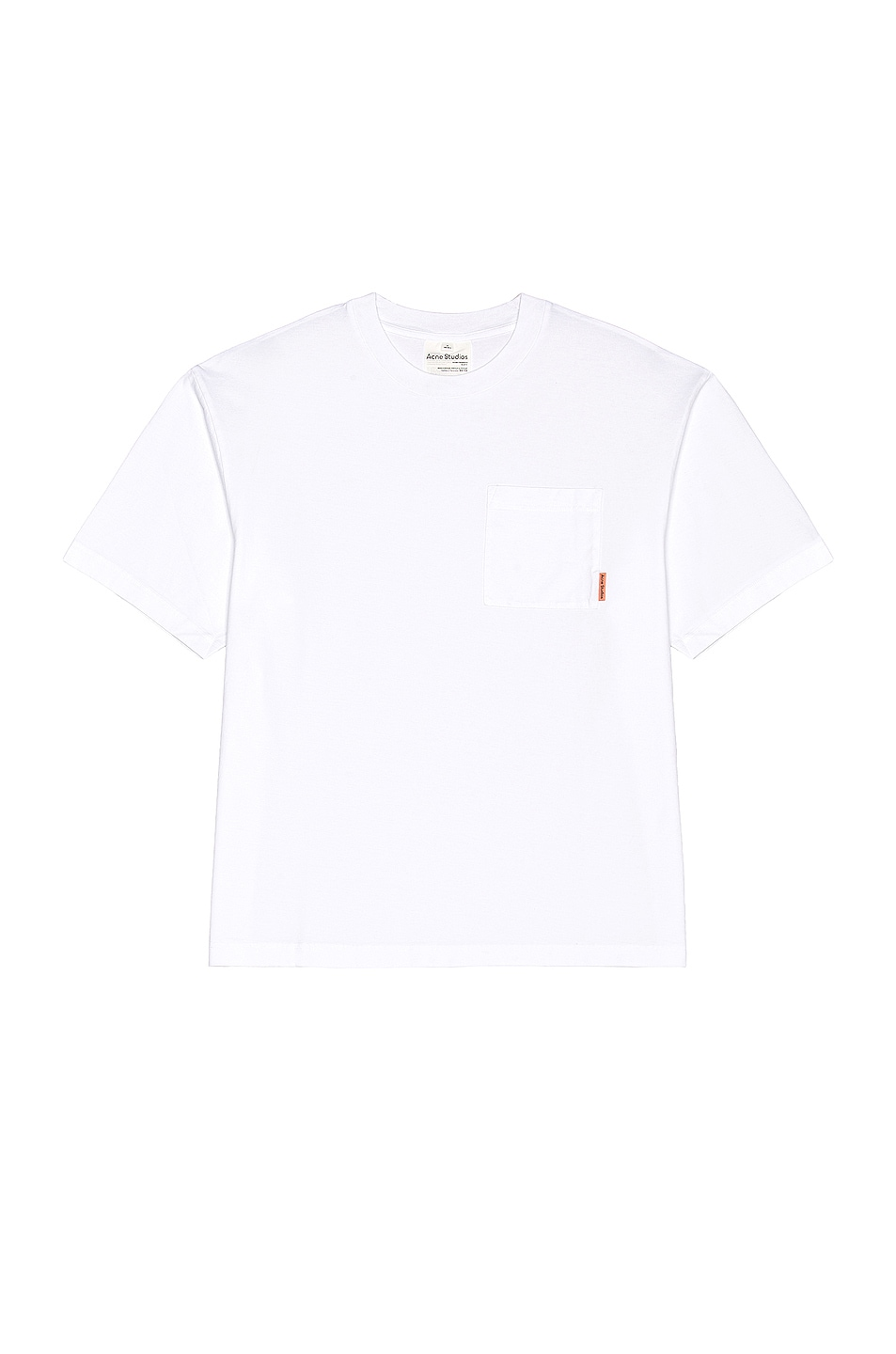 Image 1 of Acne Studios Pink Label Tee in Optic White