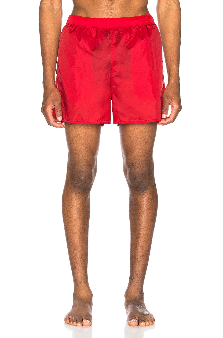 Image 1 of Acne Studios Warrick Nylon Swim Shorts in Cardinal Red