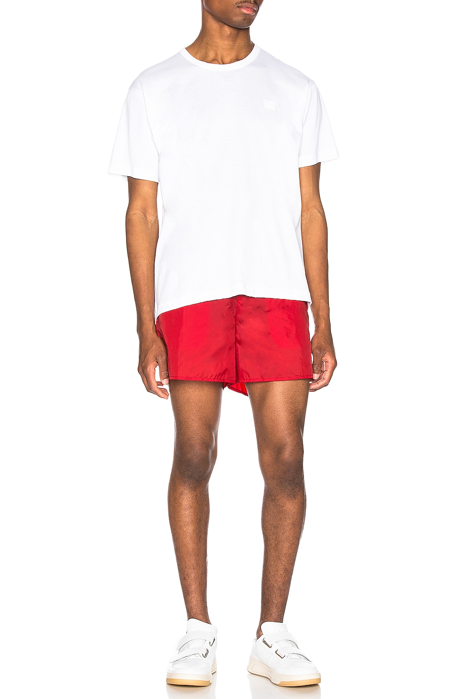 Image 4 of Acne Studios Warrick Nylon Swim Shorts in Cardinal Red