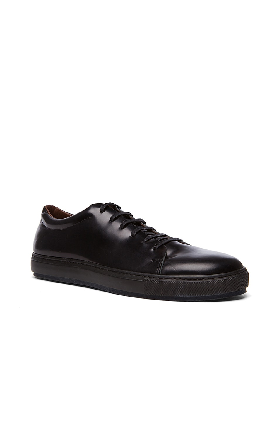 Image 1 of Acne Studios Adrian Calfskin Leather Sneakers in Black