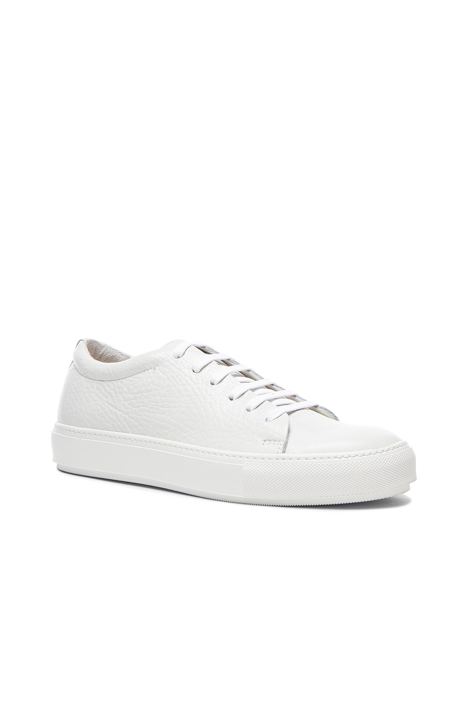 Image 1 of Acne Studios Adrian Grain Leather Sneakers in White