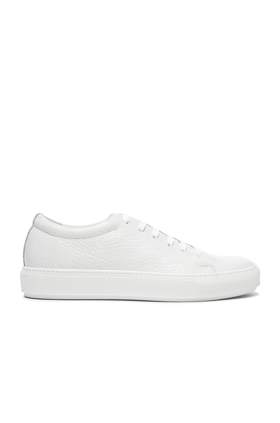 Image 2 of Acne Studios Adrian Grain Leather Sneakers in White
