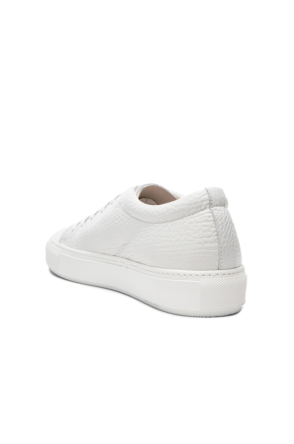 Image 3 of Acne Studios Adrian Grain Leather Sneakers in White